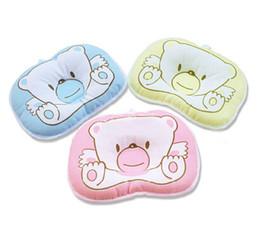 Almohada de cabeza de oso online-Nueva Lovely and Nice The Bedding Baby Pillow Bear Pillow / Baby Head anti migraña