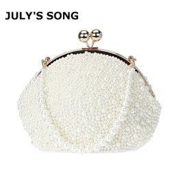 Wholesale purse club - Handmade Pearl Beaded Handbags Shabby Chic Wedding Purse Embroidery Beaded Bags Luxury Day Clutches Night Club Evening Bags