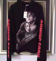 Titanische kleidung online-new streetwear hiphop kpop kleidung urban markenkleidung Titanic vetements schwarz übergroße hoodie pullover hoodies hip hop