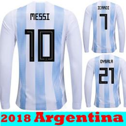 62a83a24603 Thai Quallity Maillot de Foot Homme World Cup 2018 Jerseys Argentina  Maradona Messi Football long sleeve Soccer Jerseys Argentine Shirts cheap  argentina ...