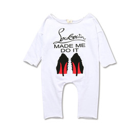 Wholesale Hip Cm - Hip Hop Unisex Baby Clothes Baby Rompers Long Sleeve Cotton Jumpsuit Newborn Baby Boy Rompers Costumes KS-036