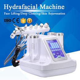 2019 máquina de piel hidráulica Good Effect Hydrafacial Cuidado de la piel Face Cleaner Hydro Peeling Skin Rejuvenecimiento Face Lift Blackhead Remover 6in1 Dermabrasion Machine máquina de piel hidráulica baratos