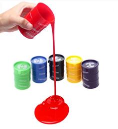 2019 brinquedo de limo de frete grátis PrettyBaby Festival novidade crianças brinquedo tambor de óleo de brinquedo truque barril de lodo tolos de abril Dia das bruxas mordaça complicado brinquedos frete grátis brinquedo de limo de frete grátis barato