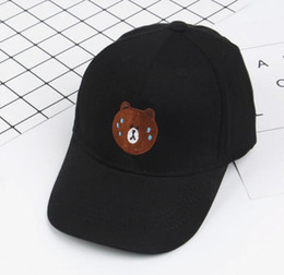 Wholesale Black Bears Baseball - 2018 New Spring and summer children's baseball cap baby bear pattern bending cap cute boys and girls shade leisure cap MZ001