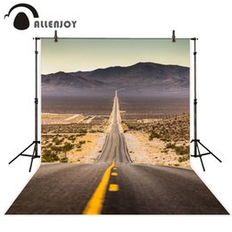 Виниловые стенды онлайн-Allenjoy photography background Desert Mountain Road West of America excluding stand vinyl fabric photos for Festival Activities