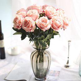 Fiori artificiali 51 centimetri Flanella rosa fiori finti pianta per la decorazione domestica di nozze Fiori 8 colori nuovi da magnolie artificiali all'ingrosso fornitori