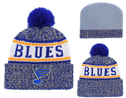 Bonnet Blues d'hiver Sideline Temps froid Graphite Sport Chapeau tricoté Laine Bonnet Adulte Bonnet Chaud Baseball Cap Bonnet Beanie ? partir de fabricateur