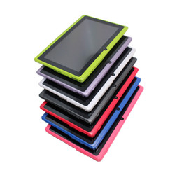 Q88 7 pulgadas Android 4.4 Tablet con caja de teclado PC ALLwinner A33 Quade Core doble cámara 4GB 512MB capacitiva desde fabricantes