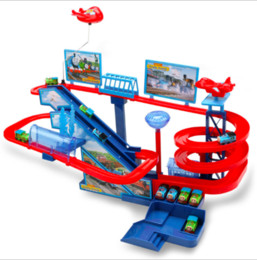 Music Electric Rail Speed Car Train Modello Colore Track Racing Car Fun Assemblare Toy Birthday Gift For Kids Boys da