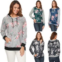 amerikanischer standard großhandel Rabatt Wholesale- 2018 europäische und amerikanische neue gedruckte gestreifte nähende lange Ärmelfrauen mit Kapuze die Hoodies der Frauen Sweatshirt-Strickjacke