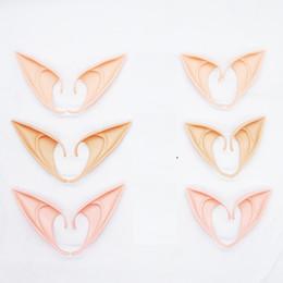 2019 bonecas de arte de pano Misterioso Elf Orelhas de fadas Cosplay Acessórios de Látex Macio Protética Falso Ouvido Máscaras Do Partido Do Dia Das Bruxas Cos Máscara