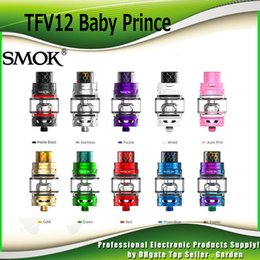 Wholesale Atomizer Mesh - Original SMOK TFV12 Baby Prince Tank 4.5ml Beast King with V8 Baby Q4 T12 Red Light Mesh Coils Atomizer 100% Authentic SmokTech