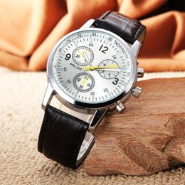 Wholesale Vintage Gold Bands - Cool Unisex Men Women Vintage Watches Leather Band Quartz Wristwatch Present Brand New High Quality
