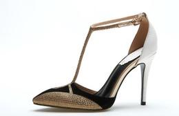 talons pointus Promotion 2018 été nouvelle perceuse à eau forte sandales à talons hauts femmes chaussures couleur sexy simple sandalHeel femme hauteur 8 cm et 10 cm