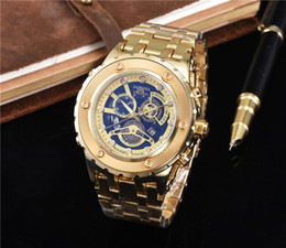 Wholesale product men - USA Brazil HOT products INVICTA men sport watch full gold stainless steel quartz watches relogio casual outdoor wristwatch