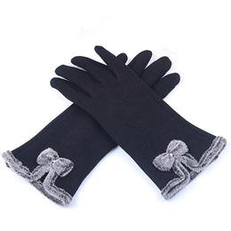 handschuhtelefon Rabatt Frauen Handschuhe Luva Winter für Frauen mit Bogen Fitness Damen Handschuh Guantes Mujer Outdoor Handschuh beheizte Telefon Touchscreen Handschuhe