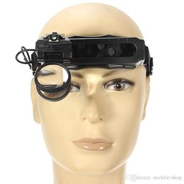 magnifier watch repairing NZ - 5 8 20X Magnifying Glass Headset LED Light Headband Magnifier 8 Lens For Reading Watch Repair Loupe Tool