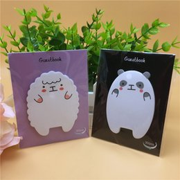 Wholesale korean diary stickers - 2 pad Cute Animal Sheep Mini Stickers Korean Stationery Sticky Notes Post It Note Kawaii For Diary Things Memo Pad