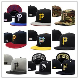Wholesale Purple Shopping - Hot Selling Classic Online Shopping Pittsburgh Pirates Street Fitted Fashion Hat P Letters Snapback Cap Men Women Basketball Hip Pop