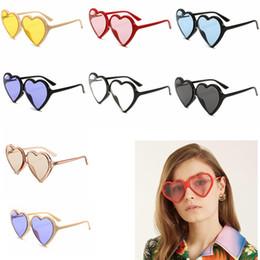 designer herzförmige sonnenbrille Rabatt 8 Farben Solide Herzförmige Sonnenbrille Frauen Markendesigner Retro Vintage Fashion Cat Eye Sonnenbrille Shades GGA624 12 STÜCKE