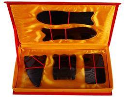 Китайские инструменты онлайн-[Здоровый Образ Жизни] Портативный Китайский Традиционный Гуа Ша Иглоукалывание Массаж Природный Набор Инструментов Гуаша # 520
