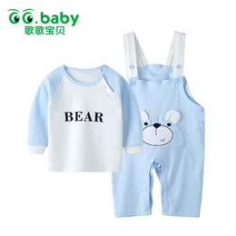 Wholesale Baby Red Overalls - Winter Baby Suspender Set Baby Boy Bear Sets Clothing Long Sleeve Overalls For Girls Cotton Suits Pajamas Set Clothes