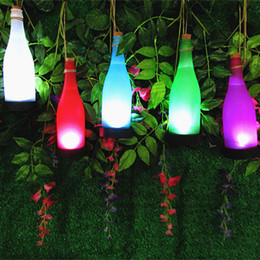 Décorations en bouteilles en plastique en Ligne-Lampes solaires roman capteur de mouvement de bouteille en plastique solaire lumière extérieure ip44 étanche suspendus lampe solaire pour la décoration de jardin