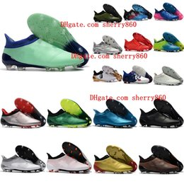 Wholesale Pink White Cups - 2018 mens soccer shoes X 17 Purechaos FG original high ankle soccer cleats Ace 17 Purecontrol football boots Purespeed Confed Cup cheap Hot