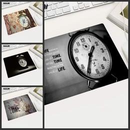 Argentina KULIAI Retro Reloj Despertador Hora Rectángulo De Goma antideslizante Tamaño Pequeño Alfombrilla de Ratón para Oficina Decoración de Computadora Portátil Escritorio Coaster Mat cheap desktop alarm Suministro