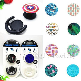 Wholesale real logo - Hot phone holder For Cell Phone Real 3M glue support reusable Custom Logo with individual packaging