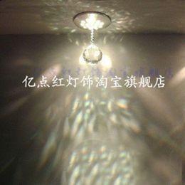 fondos de araña Rebajas Foco LED Lámpara de Cristal Araña de luces Sala de estar Bar KTV Luces de Decoración TV Fondo Luz de Pared Pasillo Luces de Entrada