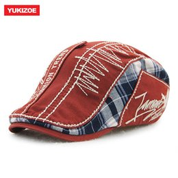1883119763a Yukizoe Vintage Cotton Newsboy Cap Men Women Duckbill Visor Flat Peaked Cap  Boina Gorras Planas Cabbie Hat Male Female Beret Hat