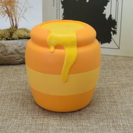 Wholesale Honey Sales - Lovely Simulation Honey Jar Squishy Safety PU Slow Rising Squishies Eco Friendly Relieve Stress Toys Hot Sale 15sy B