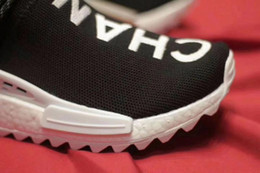 Wholesale Pw Black - (With Box)Free Shipping PW CC HU NMD Pharrell Human Race Shoes High Quality Mans Womans Shoes