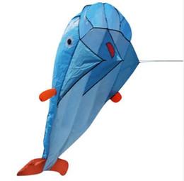 Wholesale outdoor stunts - Huge 3D Dolphin Kite Outdoor Toys For Children Kids Kites Stunt Surf Beach Flying Kite Easy to Fly Flying Kites For Kids Gift