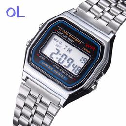 Проектная электроника онлайн-2018 горячая luxury brand design светодиодные часы мода многофункциональный жизнь водонепроницаемый часы для мужчин дешевые электронные цифровые часы relojes