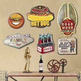 Wholesale aluminum paints - 10 styles Metal Tin Sign Beer Retro Vintage Classic Metal Painting Bar Pub Home Wall Decor Retro Tin Poster