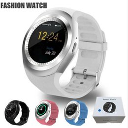 smart watches sim slot Rabatt 2018 New Y1 Smart Uhren Neueste Runde Touchscreen Rundes Gesicht Smartwatch Telefon mit Smart Card für SIM-Kartensteckplatz für IOS Android