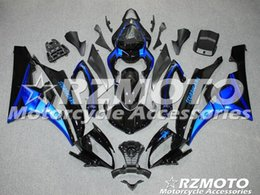 Wholesale Yamaha R6 Blue Fairing Kits - 100% Injection molding New ABS Fairing set for YAMAHA YZF-R6 600 fairings kit 2006 2007 yzf r6 06 07 black blue