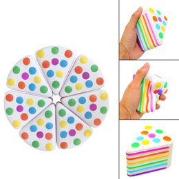Wholesale Focus Factories - Vent Decompression Toys Triangle Rainbow Cake PU Squishy Focus ADHD EDC Anti Stress Squishies Factory Direct Sale 18mn BR