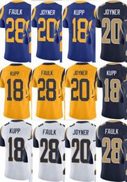custom men youth women Jersey  18 Cooper Kupp 20 Lamarcus Joyner 28  Marshall Faulk Vapor Untouchable Limited rush elite jerseys Hockey Jacke 0e13eaf41
