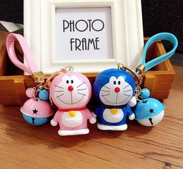 Wholesale Cute Japanese Jewelry - Fashion Japanese Comic Doraemon keychain cartoon anime Pokonyan heart pendant key chain ring cute women jewelry kids girls LY