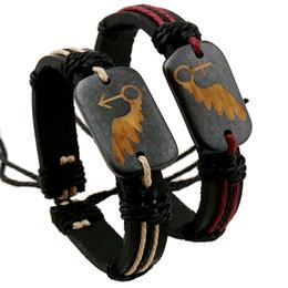 Wholesale Charm Bracelets Low Price - 4 styles to choose Fashion lover bracelets Handmade low Price Wholesale Leather Braided Bracelets and Bangles mens bracelets women jewelry