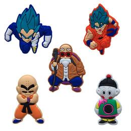 Accesorios de embalaje de ropa online-Dragon Ball Z Super Movie Cartoon PVC Broches Ropa / Bolsa / Zapatos Embalado por Bolsa de regalo Decoraciones Fiesta infantil Insignias Accesorios