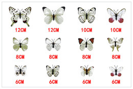 Wholesale Beautiful Design Homes - Environmental 3D Fashion Beautiful Full Color Removable Butterfly Wall Stickers 12PCS Lot for Fridge Living Room Home Decoration