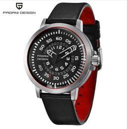 a0af1519a25a PAGANI DESIGN Relojes para hombre Top Luxury Reloj de cuarzo de cuero  impermeable para hombres Diseño único Hollow Calendar Relojes para hombres