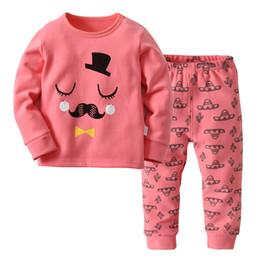 5c9ae8a4b8c8d 2-7Y дети розовый пижамы новорожденных девочек мальчиков Рождество дети пижамы  пижамы пижамы для Pajimas 2018 одежда малыша с длинным рукавом пижамы