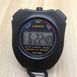 New pattern zsd-808 sports stopwatch 2 secondmeter running timer electronic  timer stop watch electronic timer running