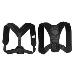 2019 brace della cintura di correzione postura Correttore di posizione elastica Supporto clavicola Schiena Spalla Brace Cintura Clavicola Bretelle regolabili sconti brace della cintura di correzione postura