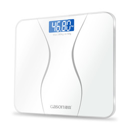 Wholesale Precision Digital Bathroom Scale - GASON A2 Precision Bathroom Scales Body Smart Electric Digital Weight Home Health Balance Toughened Glass LCD Display 180kg 50g